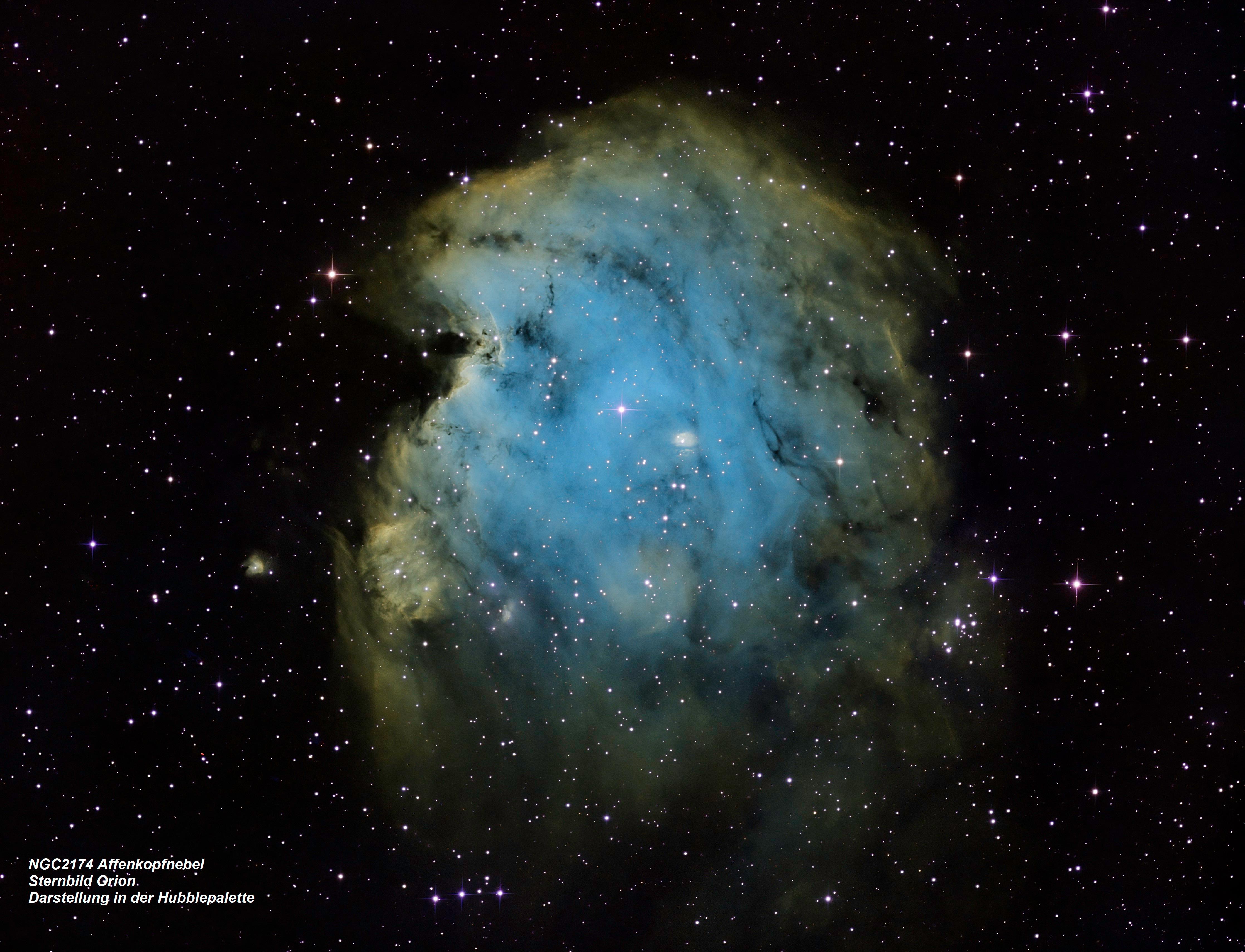 NGC 2174 Affenkopfnebel (Hubble-Farbpalette)