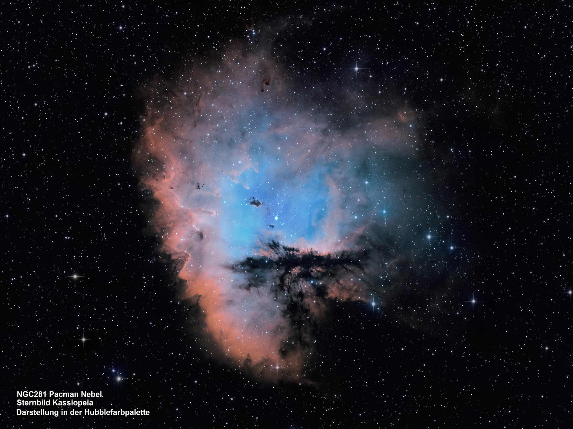 NGC281 Pacman-Nebel (Hubble-Farbpalette)