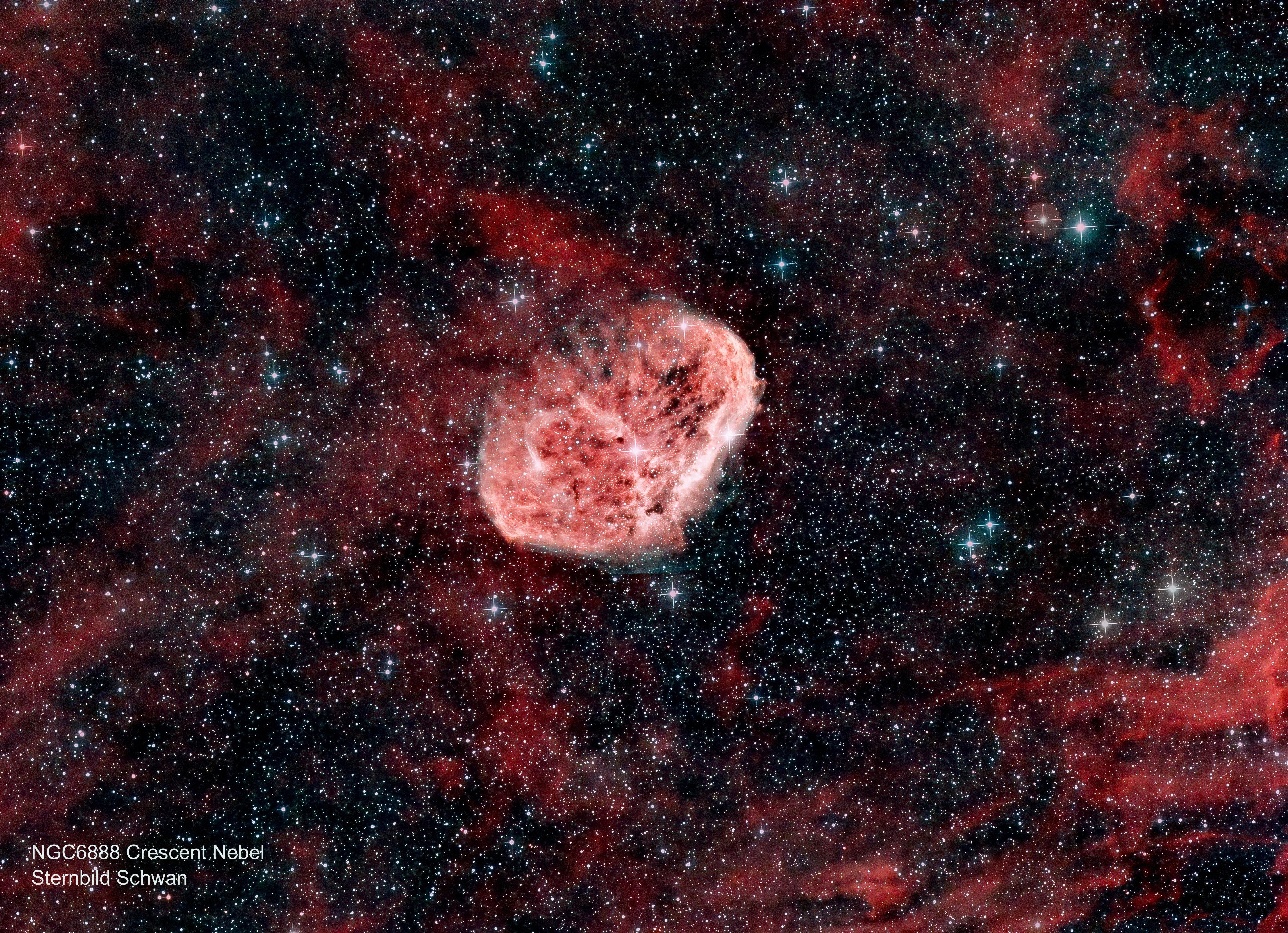 NGC 6888 Crescent Nebel