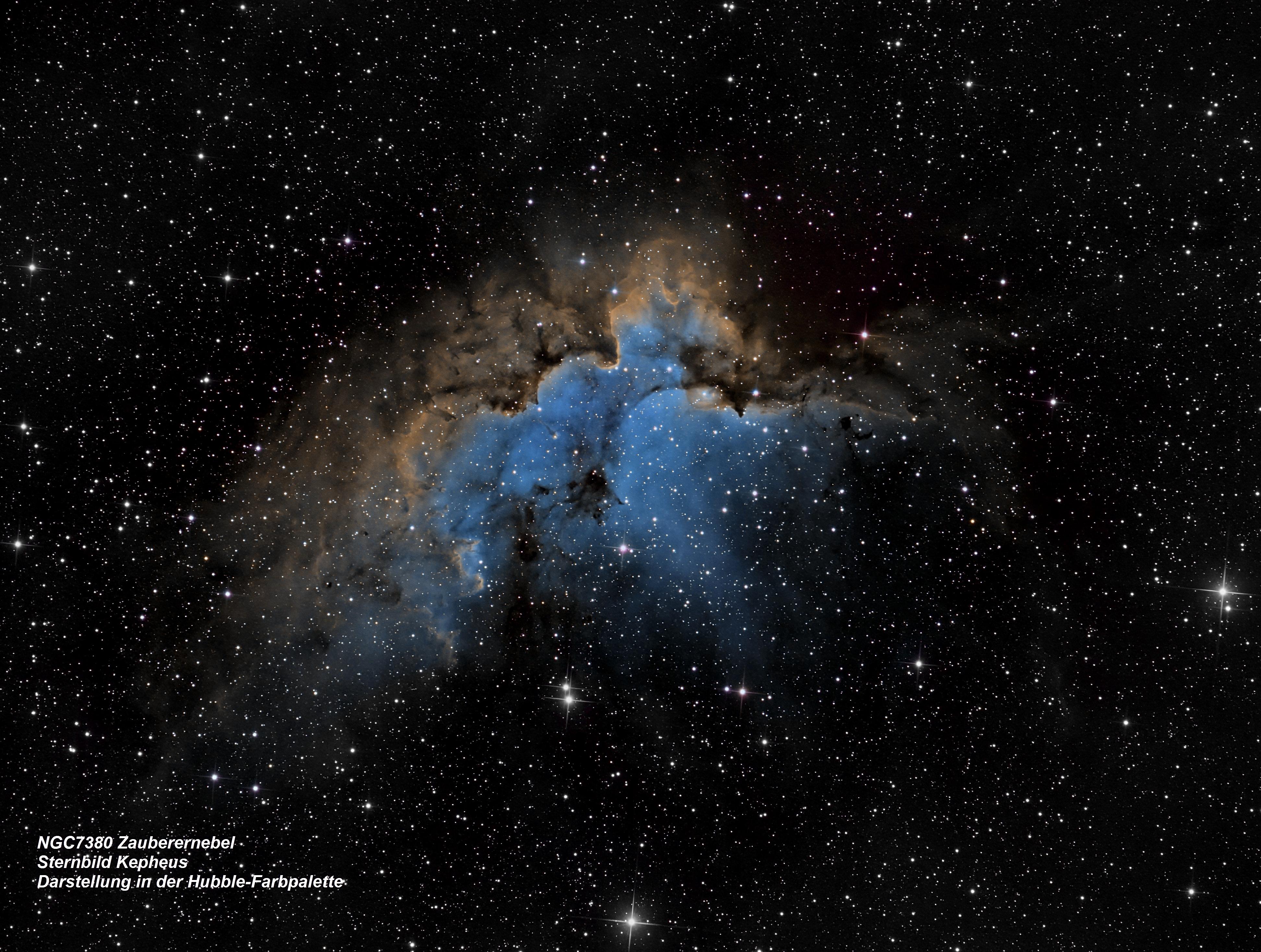 NGC7380 Zauberernebel (Hubble-Farbpalette)