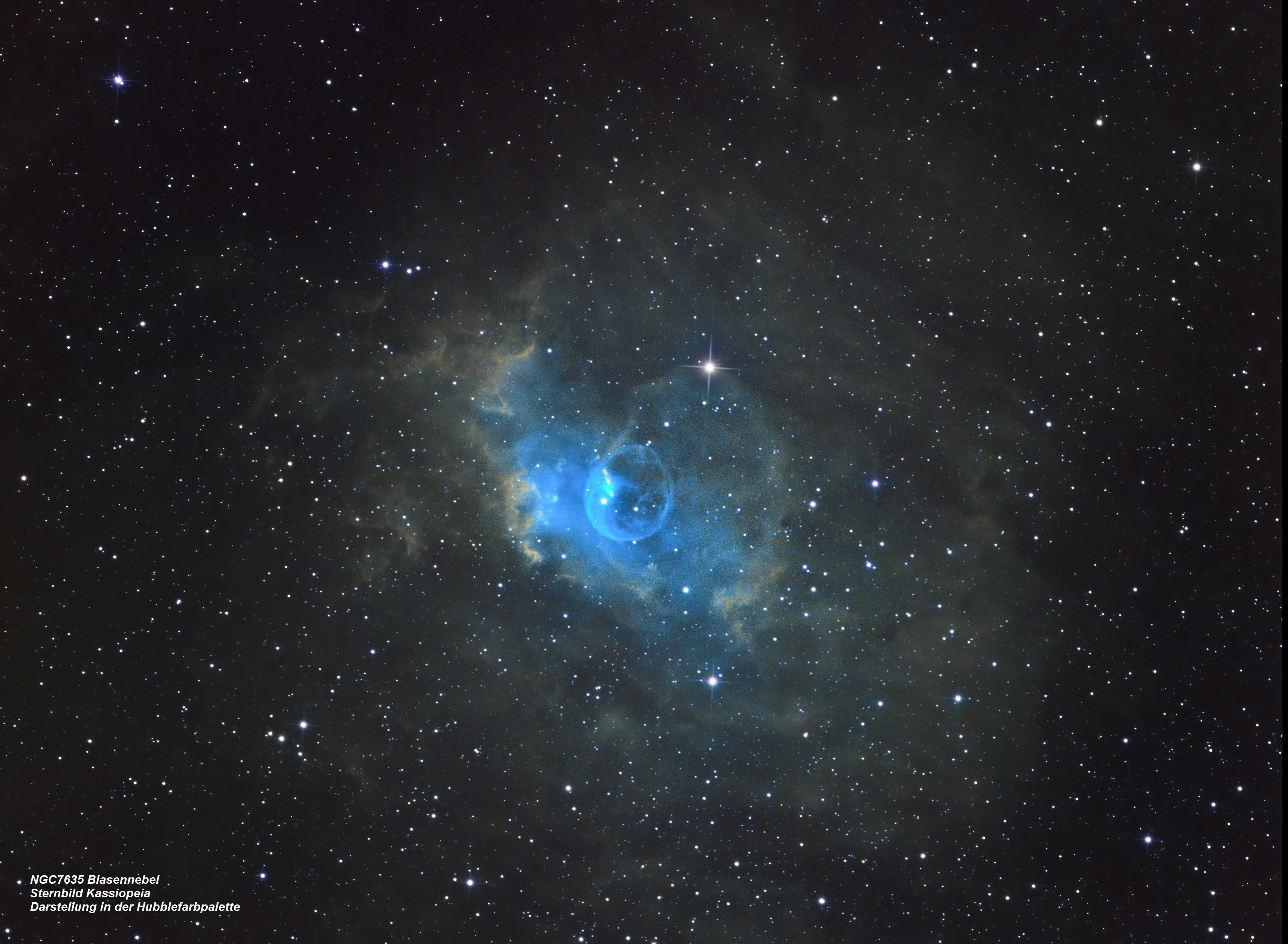 NGC7635 Blasennebel (Hubble-Farbpalette)