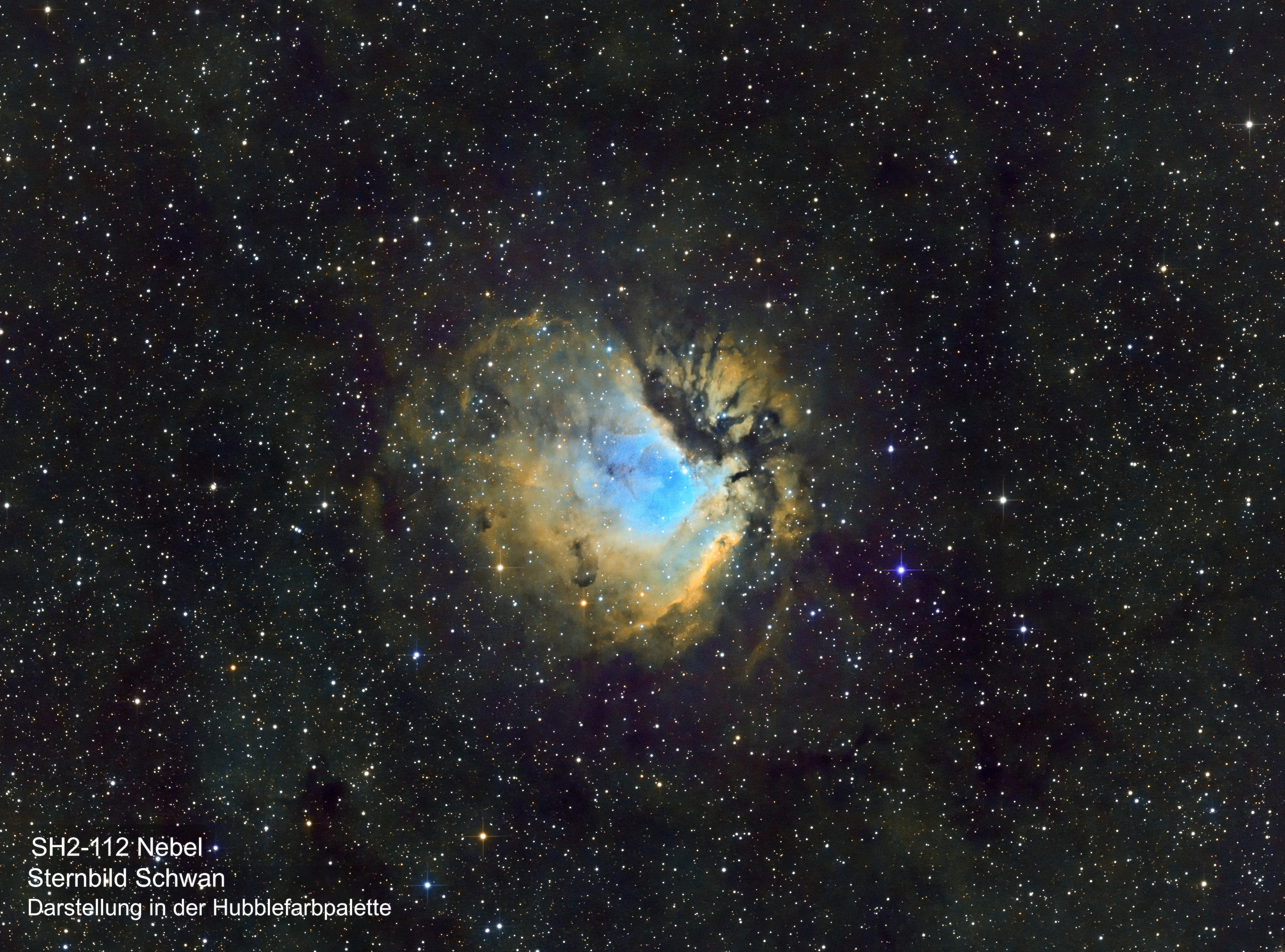 SH2-112 Nebel (Hubble-Farbpalette)
