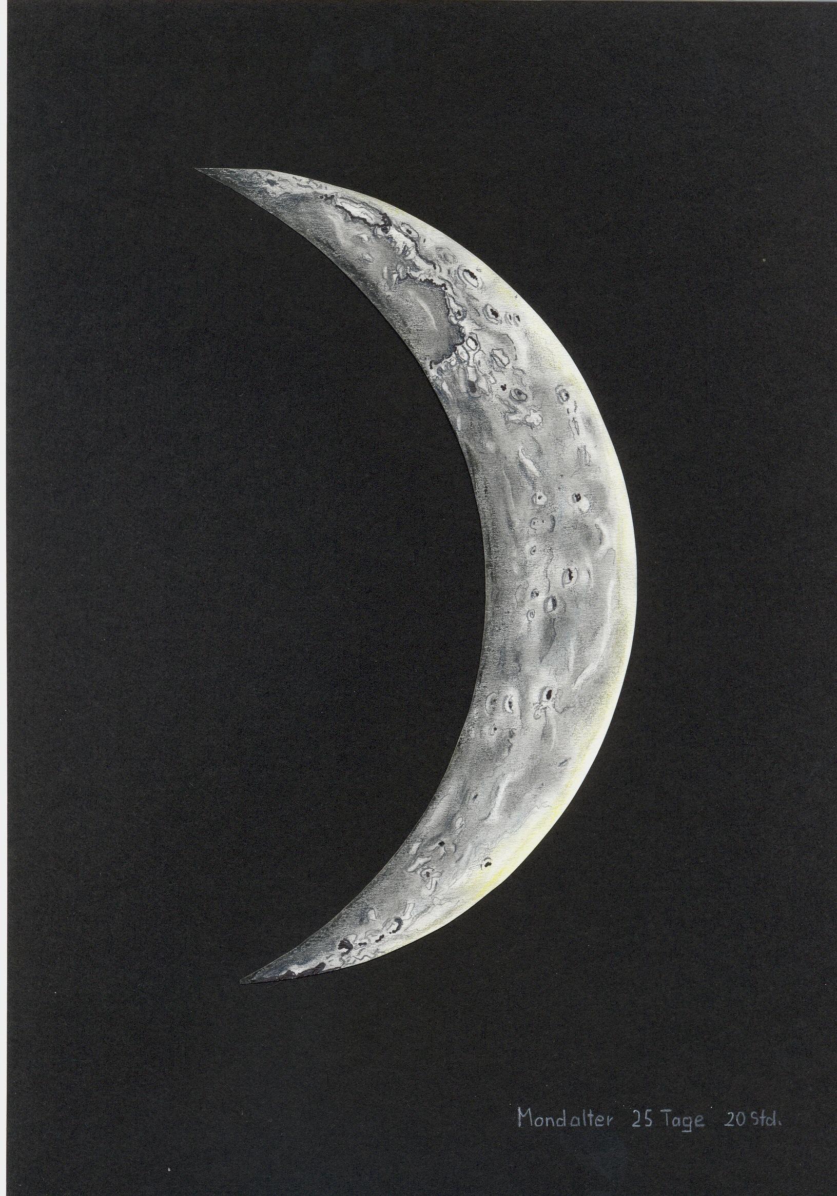 Mond 25 Tage 20 Stunden