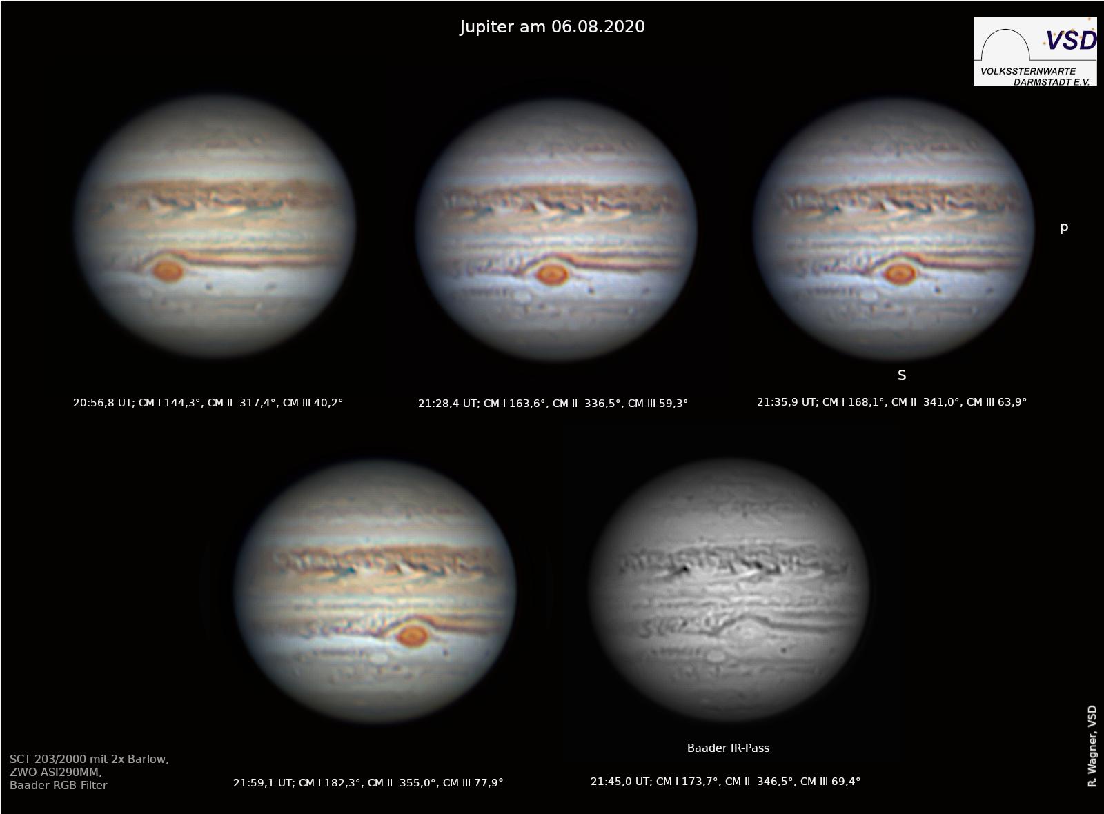 Jupiter - Bilderserie mit GRF-Transit