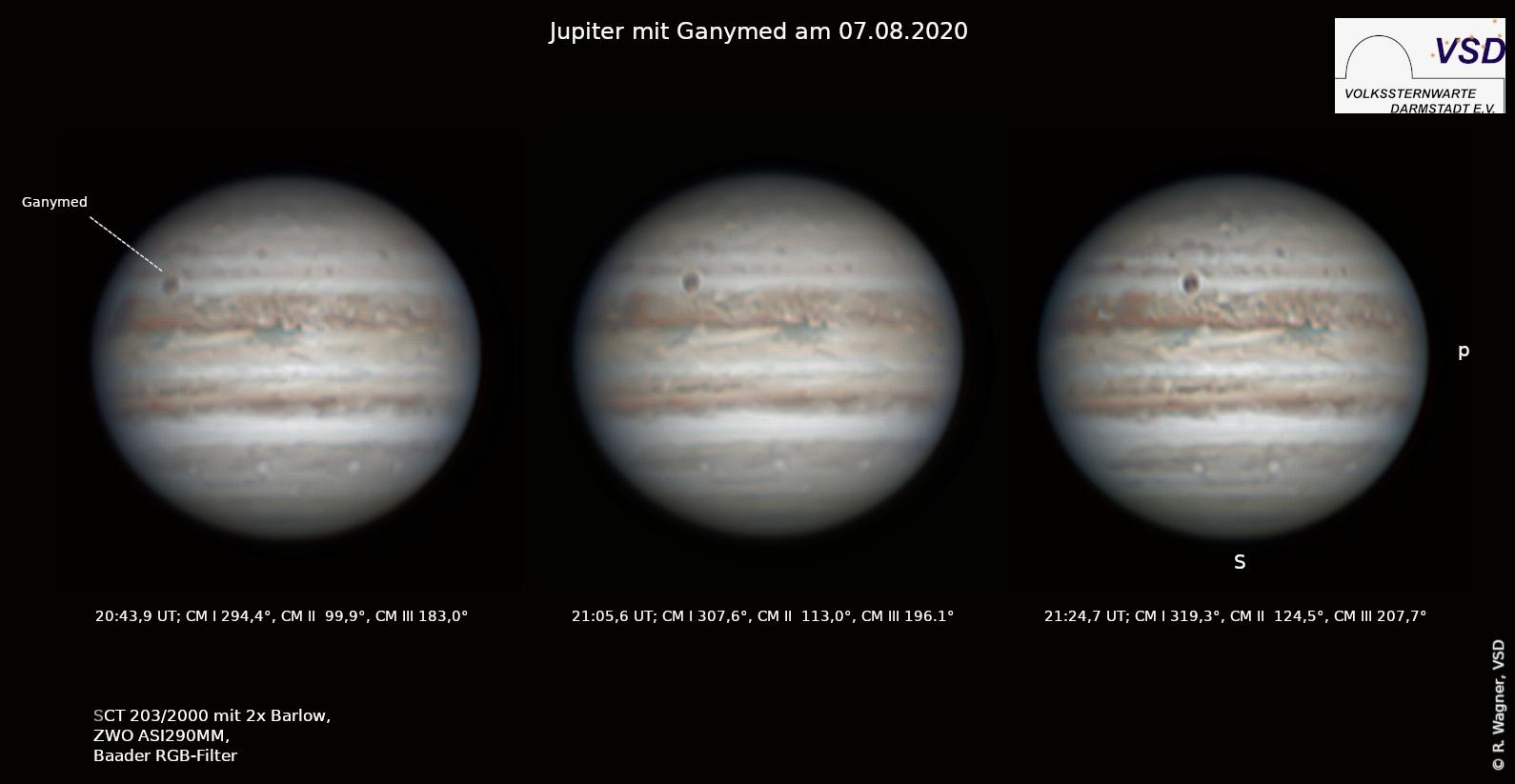 Jupiter - Bilderserie mit Ganymed