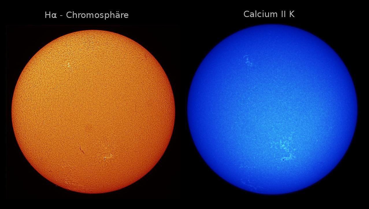 Sonne H alpha & Calcium II K