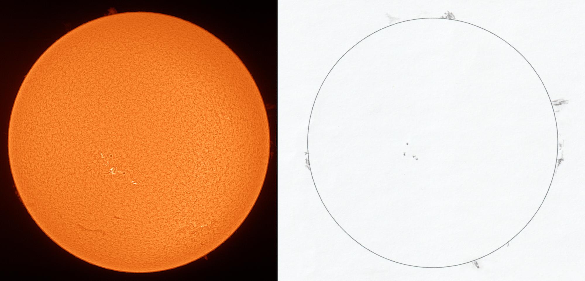 Sonne H alpha - Vergleich