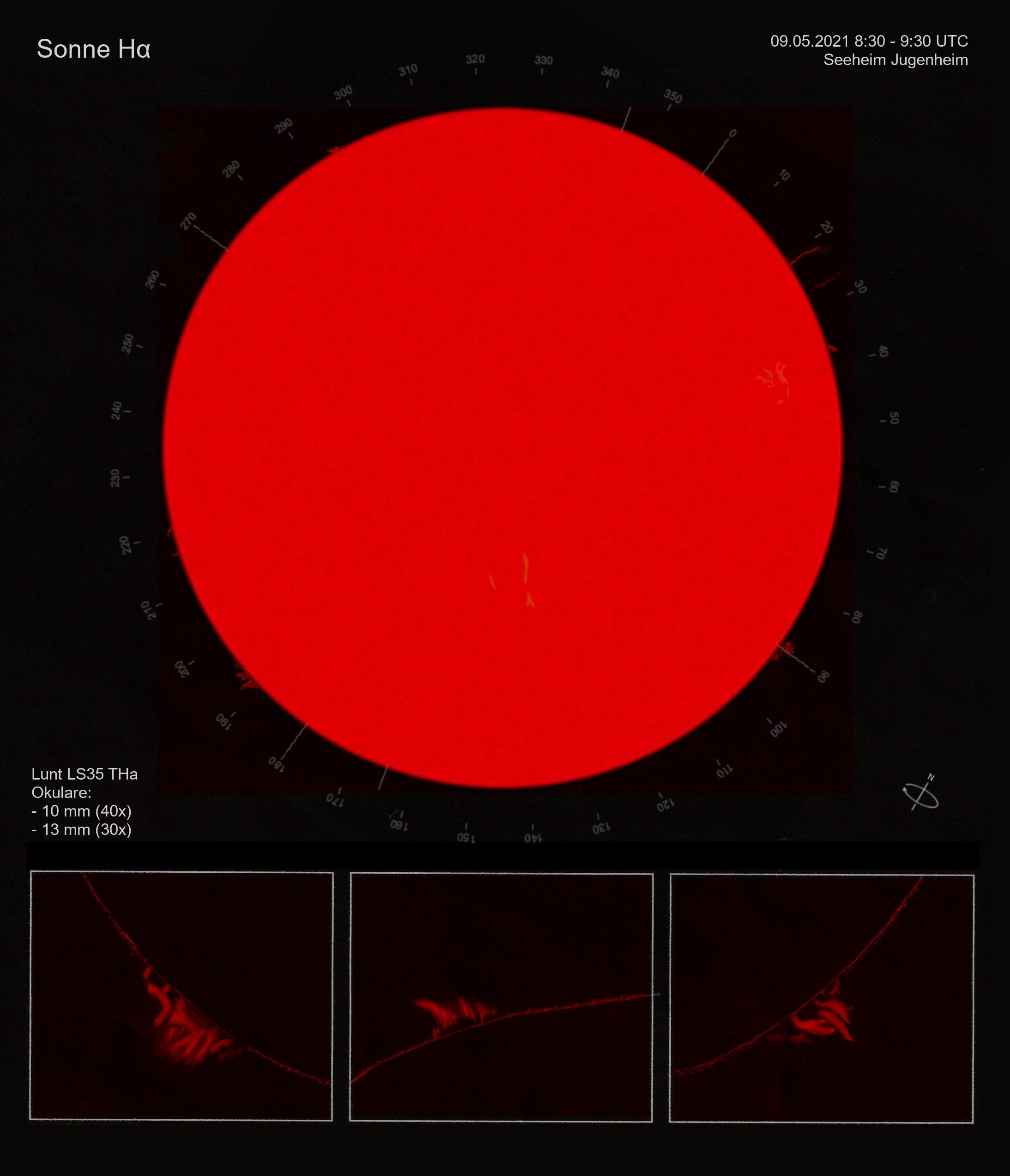 Sonne H alpha (Zeichnung)